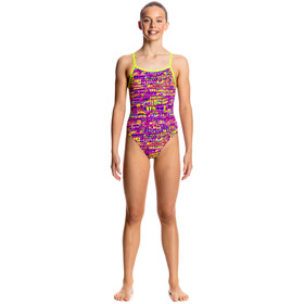 Funkita Single Strap One Piece Swimsuit Girls Dotty Dash